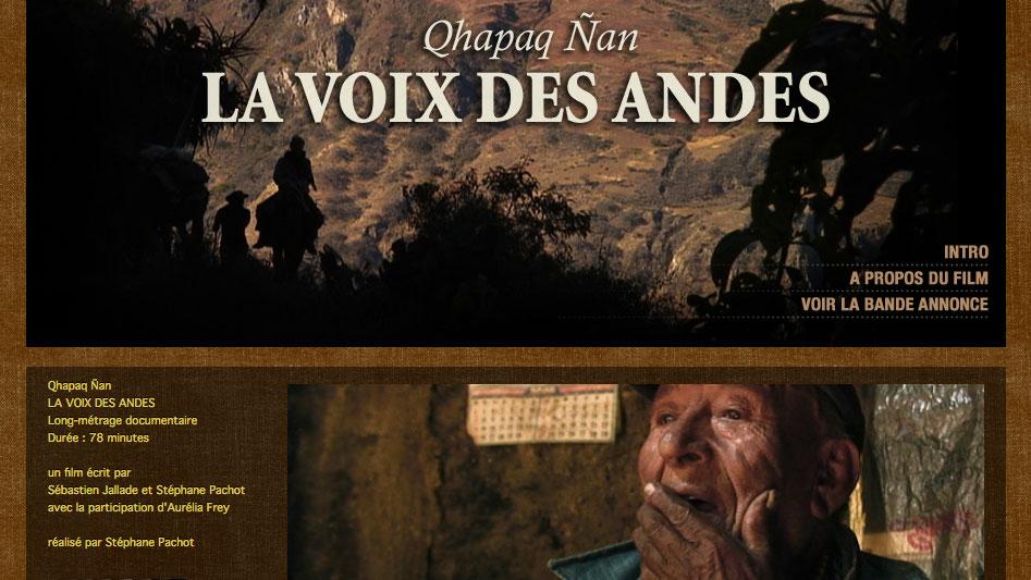 Site web La voix des Andes
